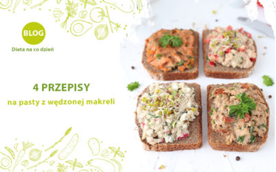 4 przepisy na dietetyczne pasty z wędzonej makreli