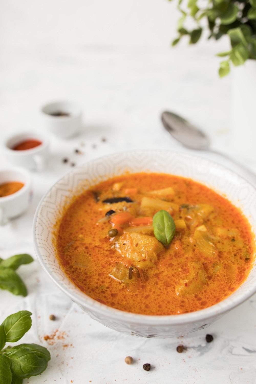 przepis na szybką zupę curry